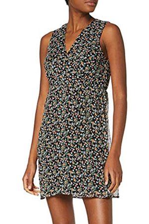 Vero Moda Women's Vmfay Sl V-Neck Short Dress WVN, ( AOP:Viola-(Small Flowers)