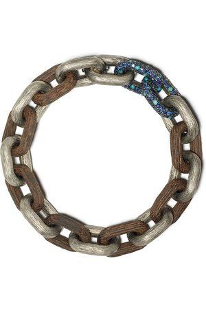 SELIM MOUZANNAR Sapphire and turquoise Link bracelet