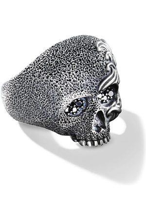 David Yurman Waves diamond skull ring - SSABD