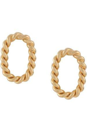 Isabel Lennse Twisted chunky chain earrings
