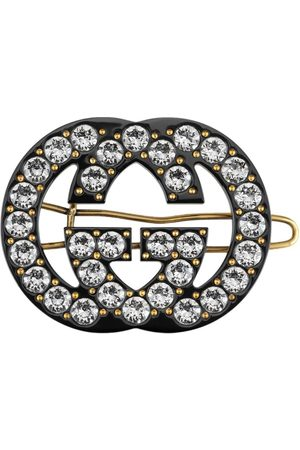 Gucci Double G embellished hair clip - Metallic