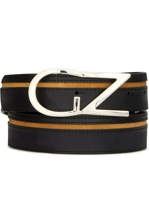 Giuseppe Zanotti Logo plaque buckle belt