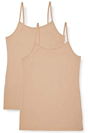 IRIS & LILLY Amazon Brand - Women's Vest in Cami Shape, Pack of 2, L