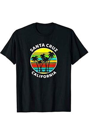 Sunset Palms Beach Shirts Santa Cruz California Souvenir Shirt Palm Trees Sunset T-Shirt