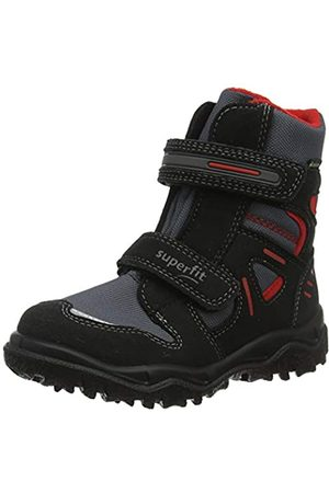 Superfit Boys' Husky Snow Boots, (Schwarz/Rot 01)