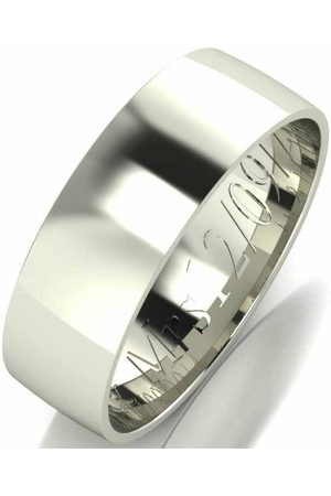 Love GOLD Personalised 9 Carat Court Wedding Band 6 Mm