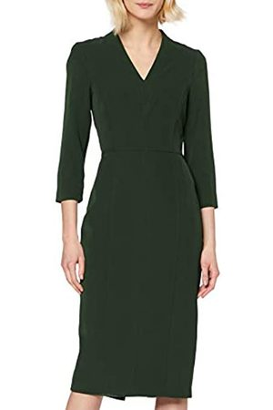 Dorothy Perkins Women's Khaki V-Neck Dress