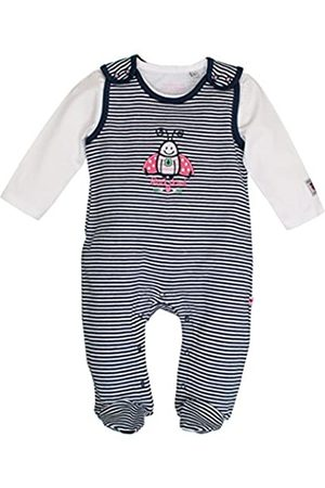 Salt & Pepper Salt and Pepper Baby Girls' NB Playsuit Glück Stripe Footies