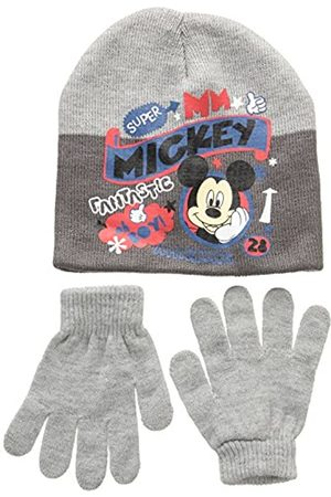 Disney Unisex Child Conjunto 2 Pcs Gorro + Guantes Mickey Set 2 Pcs Hat + Gloves, gray (117)