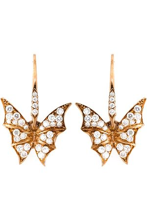 STEPHEN WEBSTER Diamond wing earrings - Metallic