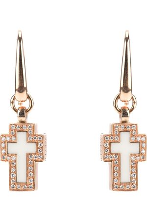 Gavello Cross diamond earrings - Metallic