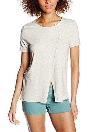Only Women's onlFINE S/S WRAP O-Neck TOP JRS T-Shirt, Off- -Elfenbein (Oatmeal)