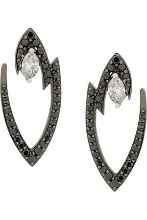 STEPHEN WEBSTER 18kt white gold Lady Stardust marquise diamond earrings - Metallic