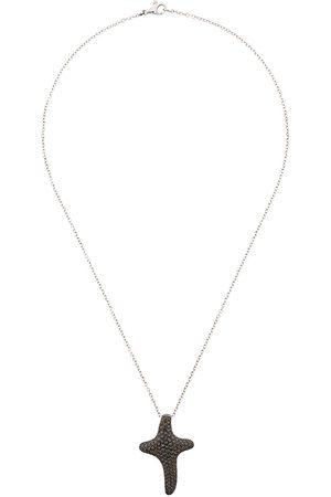 Gavello 18kt white gold diamond cross necklace - Metallic