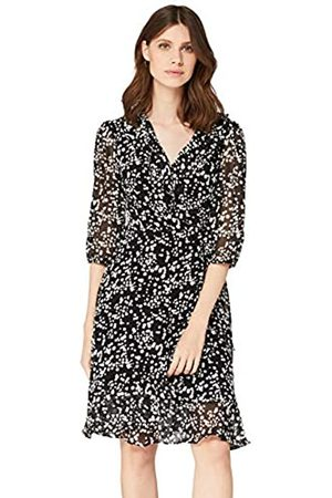 TRUTH & FABLE Amazon Brand - Women's Midi Chiffon Wrap Dress, 18