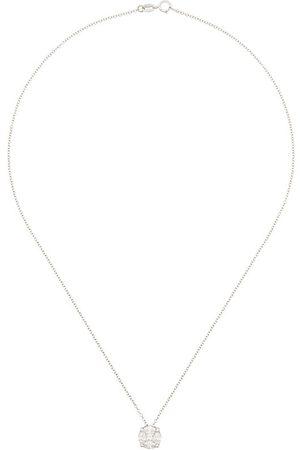MONAN 18kt white gold diamond pendant necklace - Metallic