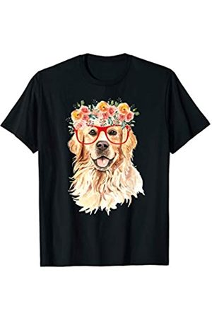 Golden Retrievers designs LTD Cute Golden Retriever dog with red glasses - best gift idea T-Shirt