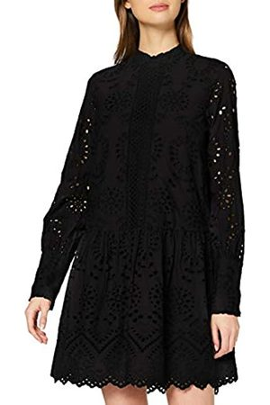 Vero Moda Women's Vmperfect Emb L/s Short Dress Sb2