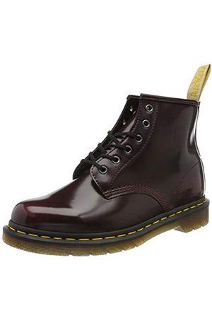 Dr. Martens Unisex Adults' Vegan 101 Classic Boots, (Cherry Cambridge Brush 600)