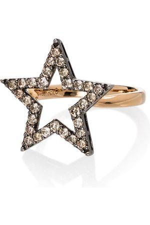 ROSA DE LA CRUZ 18kt diamond star ring