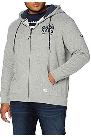 Jack & Jones Men's JORUPTON Sweat Zip Hood Plus Track Jacket