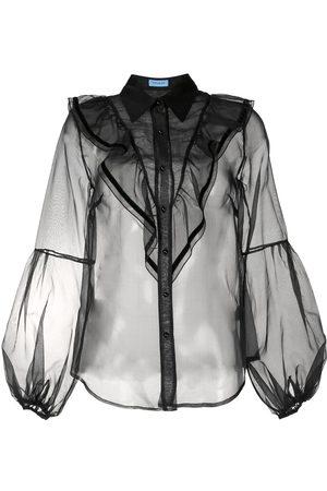 Macgraw Love Bird sheer blouse