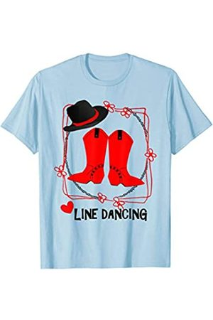 Hasharon Line Dance Line Dancing Cowboy Hat Boots Fun Line Dancers Graphic T-Shirt