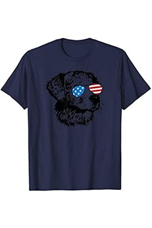 Patriotic USA Aviator Animal Gifts Cute Dog Patriotic USA Flag Aviator Glasses Design T-Shirt