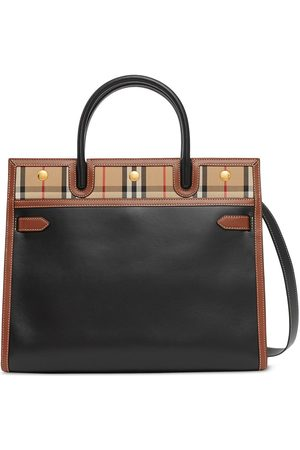 Burberry Small Title Vintage Check tote