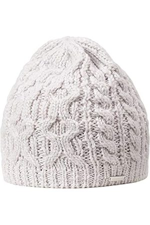 Giesswein Women's Beanie Grafenmatt marmor ONE - Knitted hat Made of Merino Wool, coarse Knitted Plait Pattern, with Glittering Yarn,Warm Fleece Insert