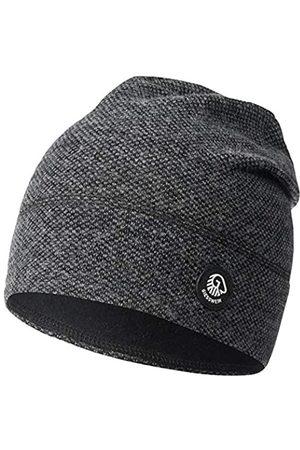 Giesswein Merino wool beanie Hohes Eis slate ONE SIZE - Unisex knitted hat made of merino wool for women & men, breathable, temperature regulating, beanie for men & women
