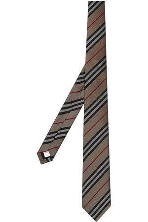 Burberry Men Bow Ties - Classic Cut Icon Stripe Silk Tie