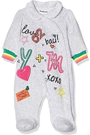 MEK Baby Girls Tutina Ciniglia Con Colletto Playsuit
