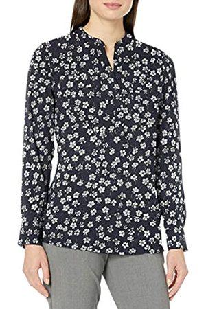 Lark & Ro Women's Band Collar Pocket Tunic Popover Dress