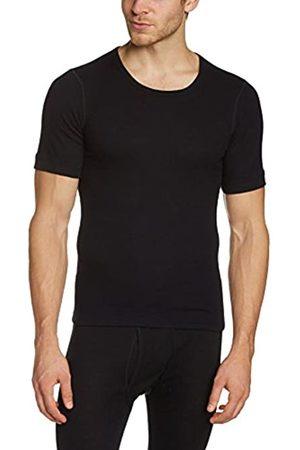 Susa Men's Angora Unterhemd s8010070 Themal Top, -Schwarz (Schwarz s750)