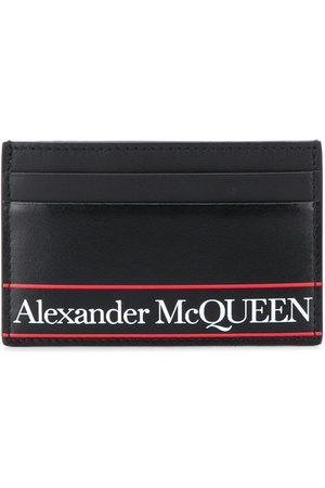 Alexander McQueen Striped logo cardholder