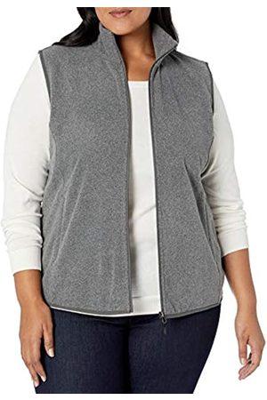 Amazon Plus Size Full-zip Polar Fleece Vest Charcoal Heather