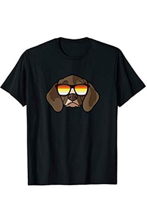Paw Lovers by Mezziteez Gay Shepherd Pointer with Sunglasses - Cute Gay Pride Dog T-Shirt