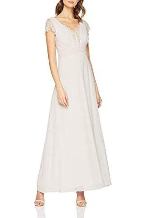 Little Mistress Women's Bianca Lace Trim Maxi Dress, (Lilac)