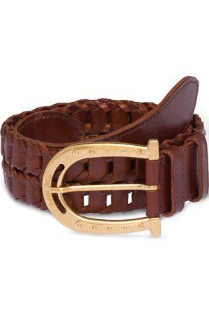 Miu Miu Horseshoe-shaped buckle belt