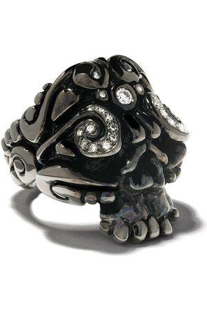 Duffy Jewellery Rhodium skull ring