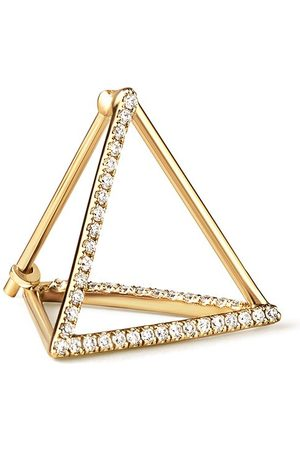 SHIHARA Diamond Triangle Earring 15 (03) - Metallic