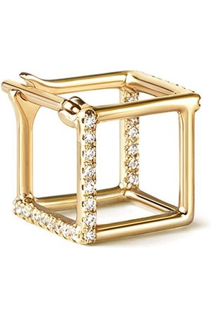 SHIHARA Women Earrings - Diamond Square Earring 7 (02) - Metallic