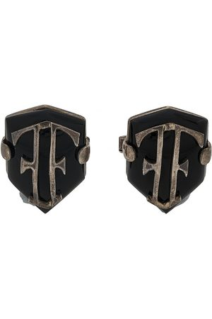 Gianfranco Ferré 2000s shield cufflinks - Metallic