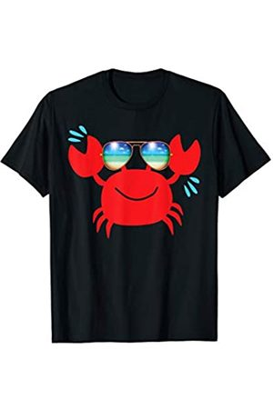 Fun For Summer Tees Funny Hipster Crab Fish Summer Beach Sunglasses Cute Gift T-Shirt