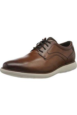 Rockport Men's Garett Plain Toe Oxfords, (Cognac 002)