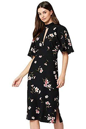 TRUTH & FABLE Amazon Brand - Women's Dress Midi Keyhole, 12