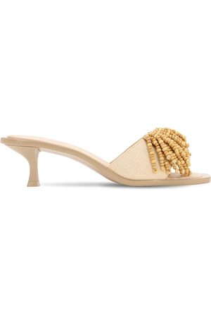 Cult Gaia 55mm Uma Embellished Raffia Sandals