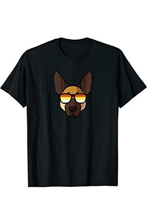 Paw Lovers 1 by Mezziteez Gay German Shepherd with Sunglasses - Cute Gay Pride Dog T-Shirt