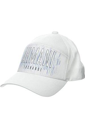 Armani Men's Horizontal Logo Baseball Cap, (Bianco- 00010)
